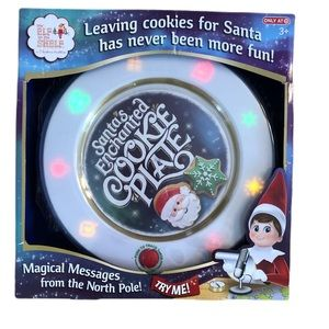 Elf on the Shelf Enchanted Cookie Plate With Box